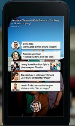 Facebook Home - Notifications